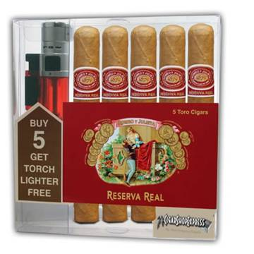 Romeo y Julieta Reserva Real Toro + LIGHTER (6×54) 5/Pack Gift Pack